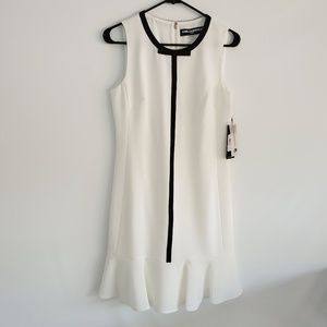 Karl Lagerfeld Ivory and black dress Size 6 NWT